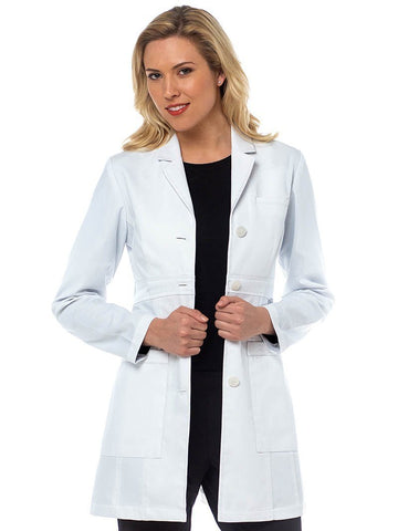 9652  TAILORED EMPIRE MID LENGTH LAB COAT - Elegant Scrubs & Apparel