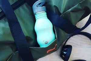 350ml Stainless Steel Bottle with Quench Cap - Mint Green