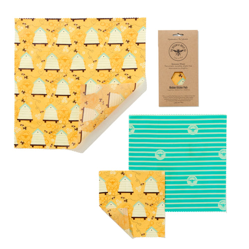 The Beeswax Wrap Co - Medium Kitchen Pack