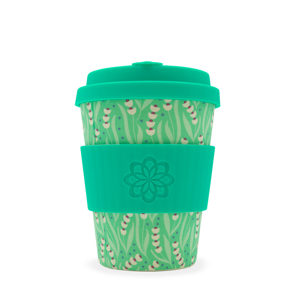 Ecoffee Reusable Coffee Cup - Tiny Garden Amstel 12oz