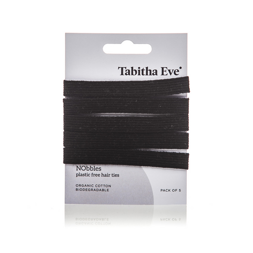 NObbles Plastic Free Hair Ties (5 Black) - Tabitha Eve