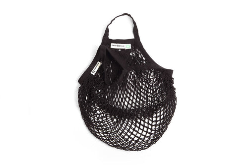 Turtle Bags Organic Cotton String Bag - Short Handled Black