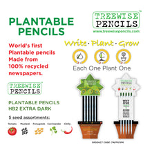 Load image into Gallery viewer, Treewise Plantable Pencils - HB dark