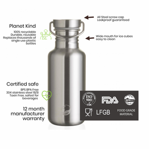 Stainless Steel Tough Canteen 800ml