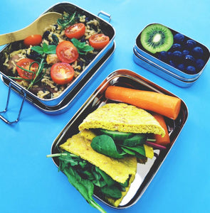 Two Tier Rectangular Stainless Steel Lunchbox