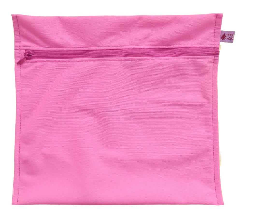 Wet Bag for Reusable Pads PUL - Hot Pink