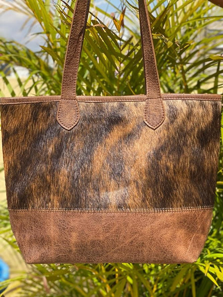 The Texas Tote - Cowhide and leather