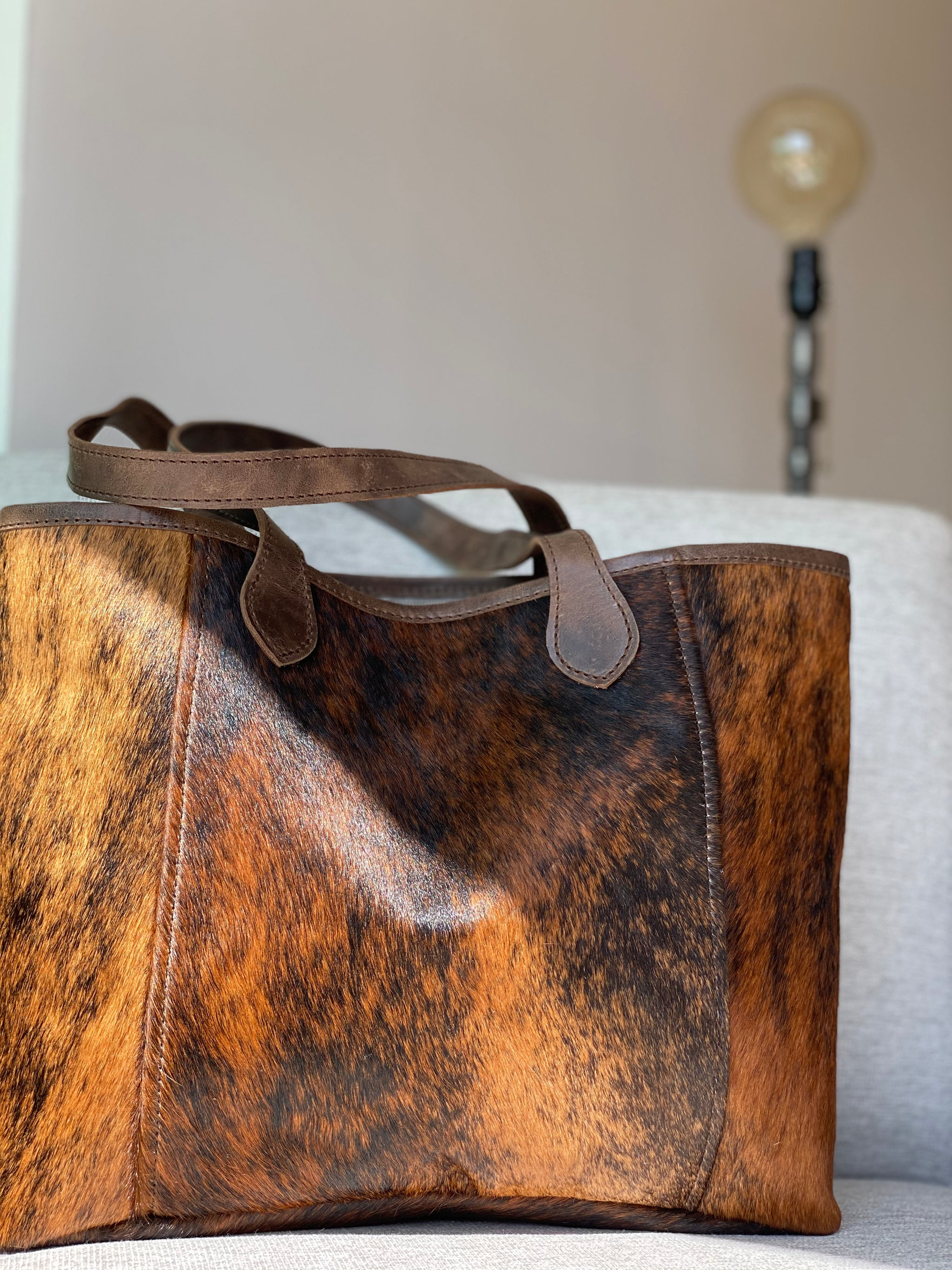The Grocery Getter Tote - Cowhide or Leather getter cowhide tote