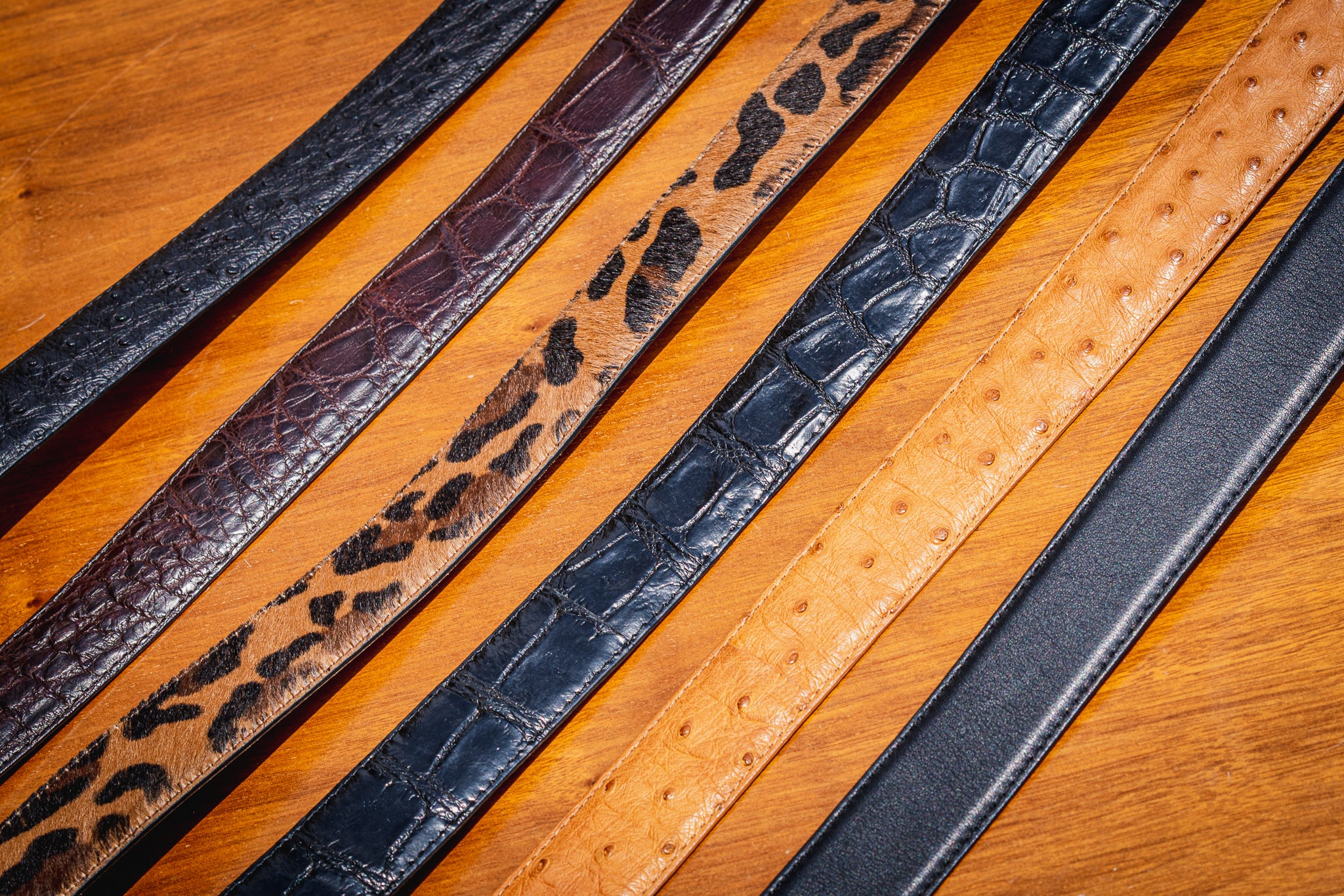 The Glades Exotic Belt - Python, Cobra, Alligator, Ostrich