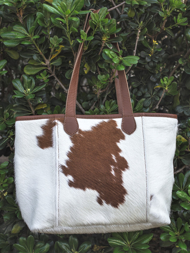 The Grocery Getter Tote - Cowhide or Leather
