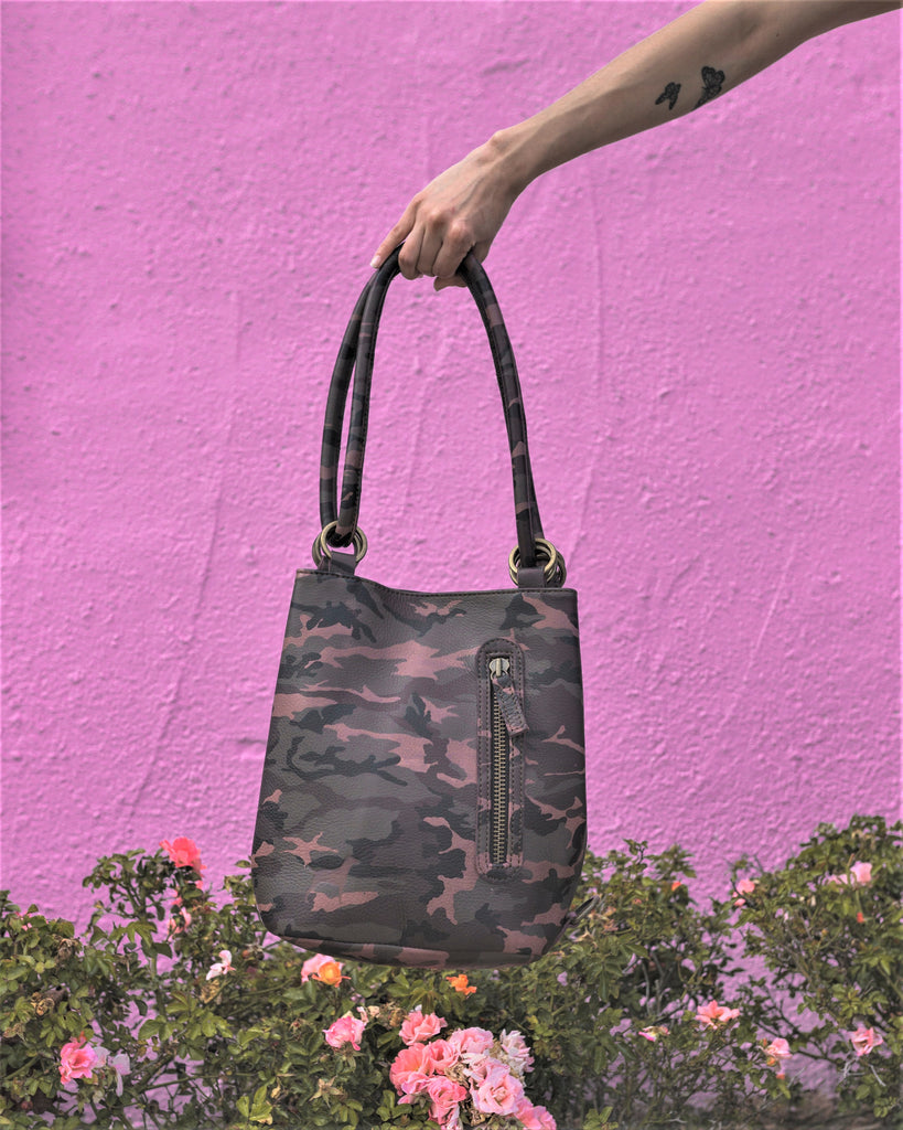 The Mini Menage Bag - cowhide and leather