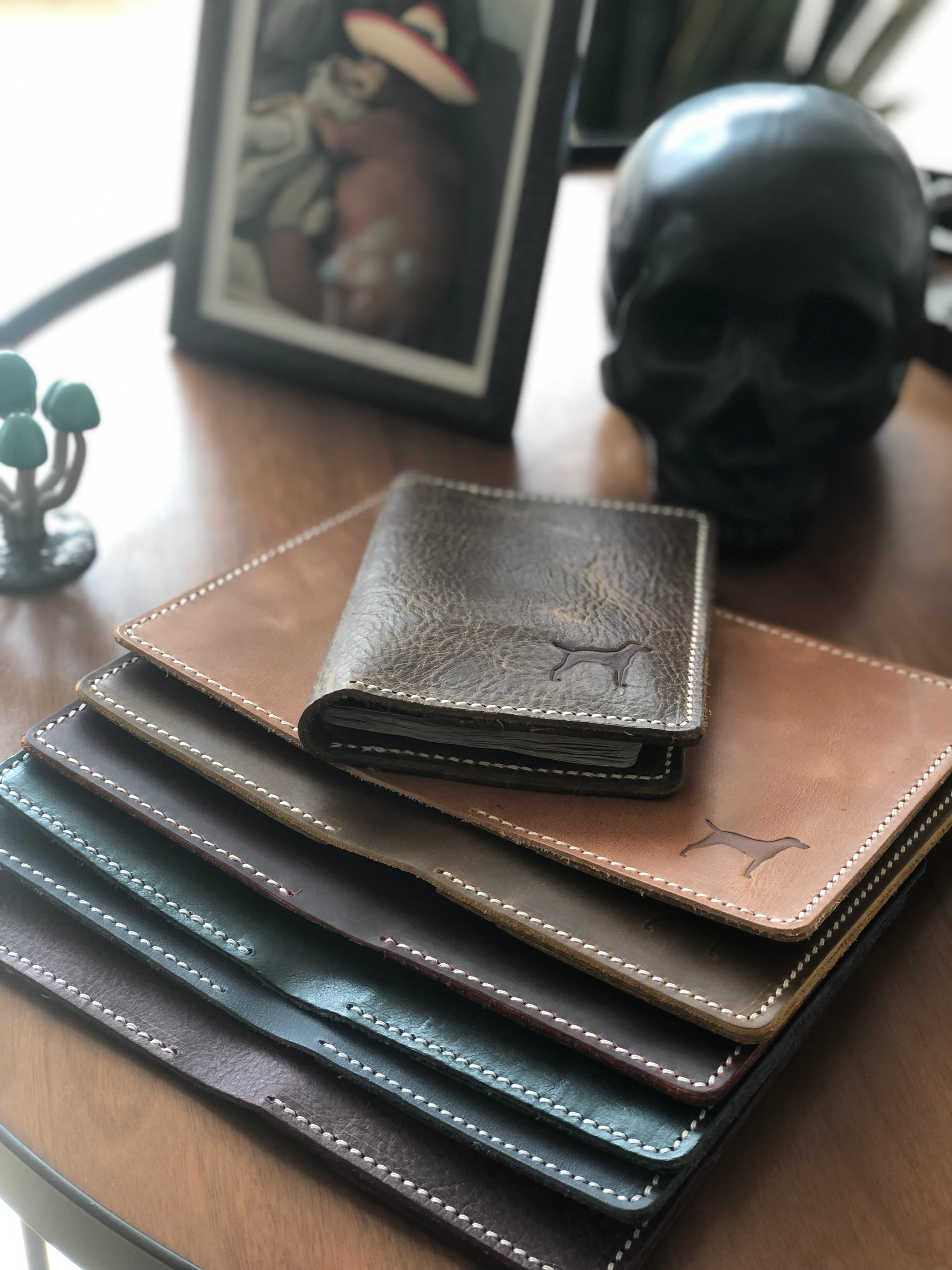 The Oaxaca passport holder - cowhide and leather