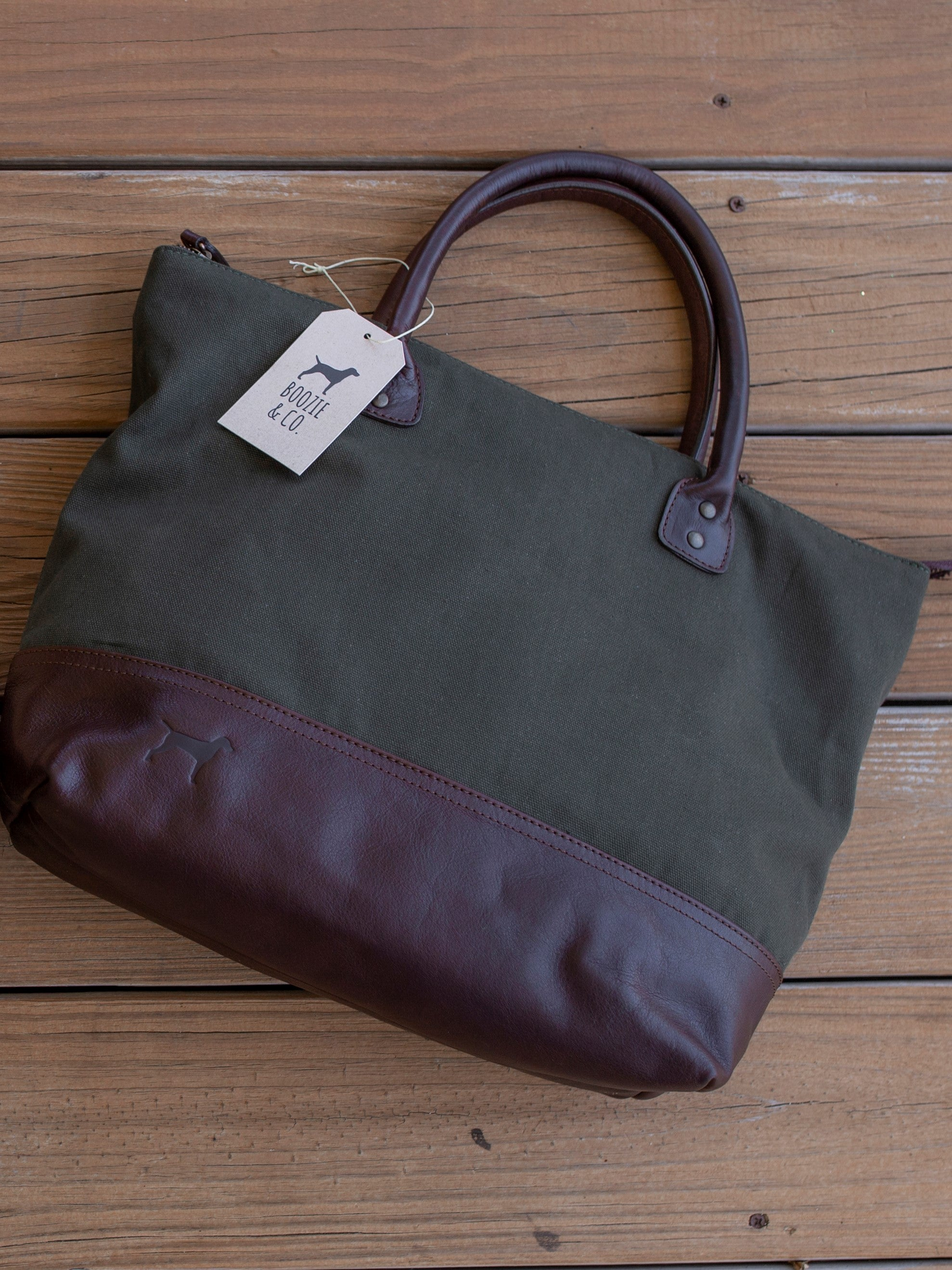 The Lona canvas and leather tote