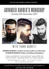 Load image into Gallery viewer, barber workshop course galway