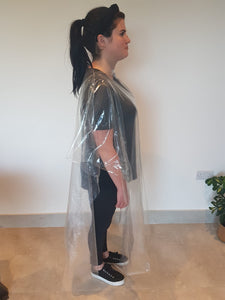 Clear Plastic Disposable Salon Gowns 25 Pack