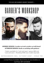 Load image into Gallery viewer, barber workshop ireland