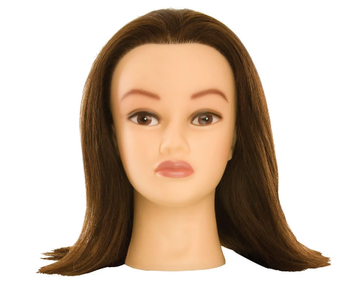 Kate Brunette Manikin Head