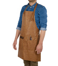 Load image into Gallery viewer, Barburys Mascul Leather Barber Apron