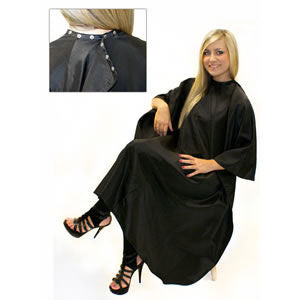 Hairdressing Gown - Stud Fasten Closure