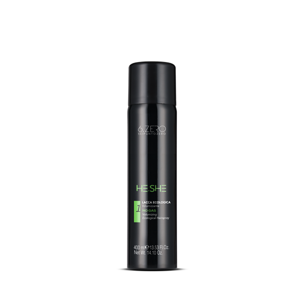 6.Zero He.She Ecological Volumising Hairspray – No gas