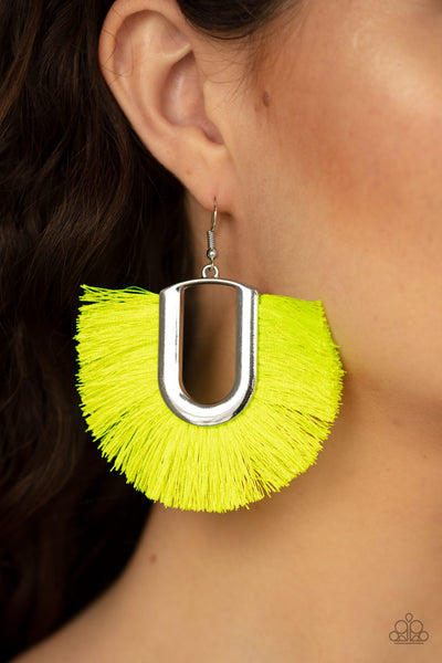 Tassel Tropicana yellow earring