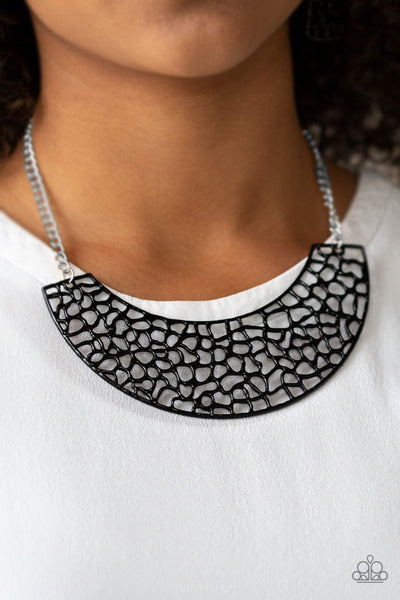 Powerful Prowl black necklace