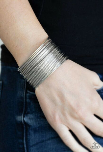 Stacked to the Max! Silver bracelet