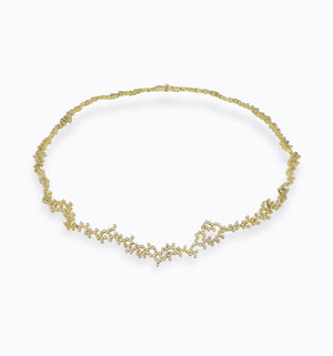 Handmade gold and diamond necklace liliana guerreiro