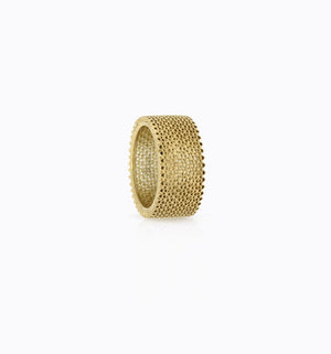 Contemporary gold filigree ring liliana guerreiro