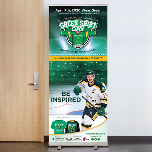 Green Shirt Day Retractable Banner