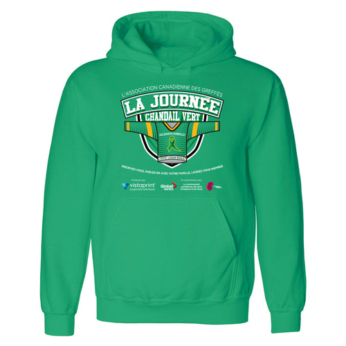 Green Shirt Day Hoodie - Adult & Youth - French