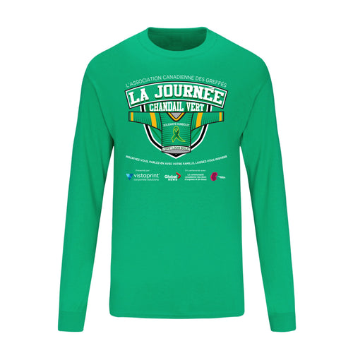 Green Shirt Day Long Sleeve T-Shirt - Adult & Youth - French