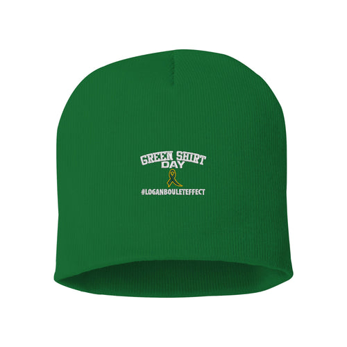 Green Shirt Day Knitted Hat - Logan Boulet Effect