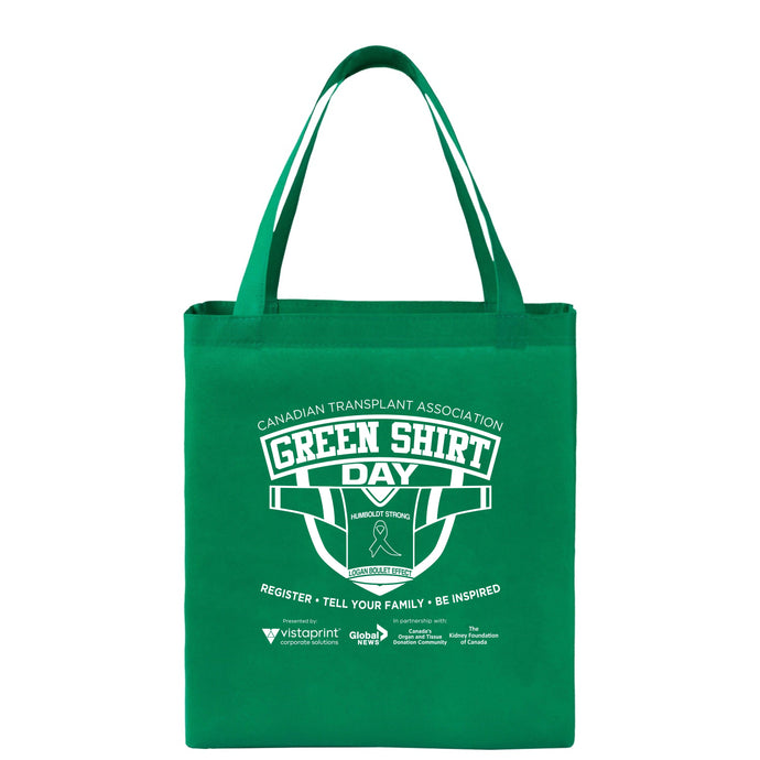 Green Shirt Day Shopper Tote Bags