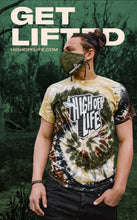 Load image into Gallery viewer, High Off Life T-Shirt (Camo Swirl Tie-Dye)