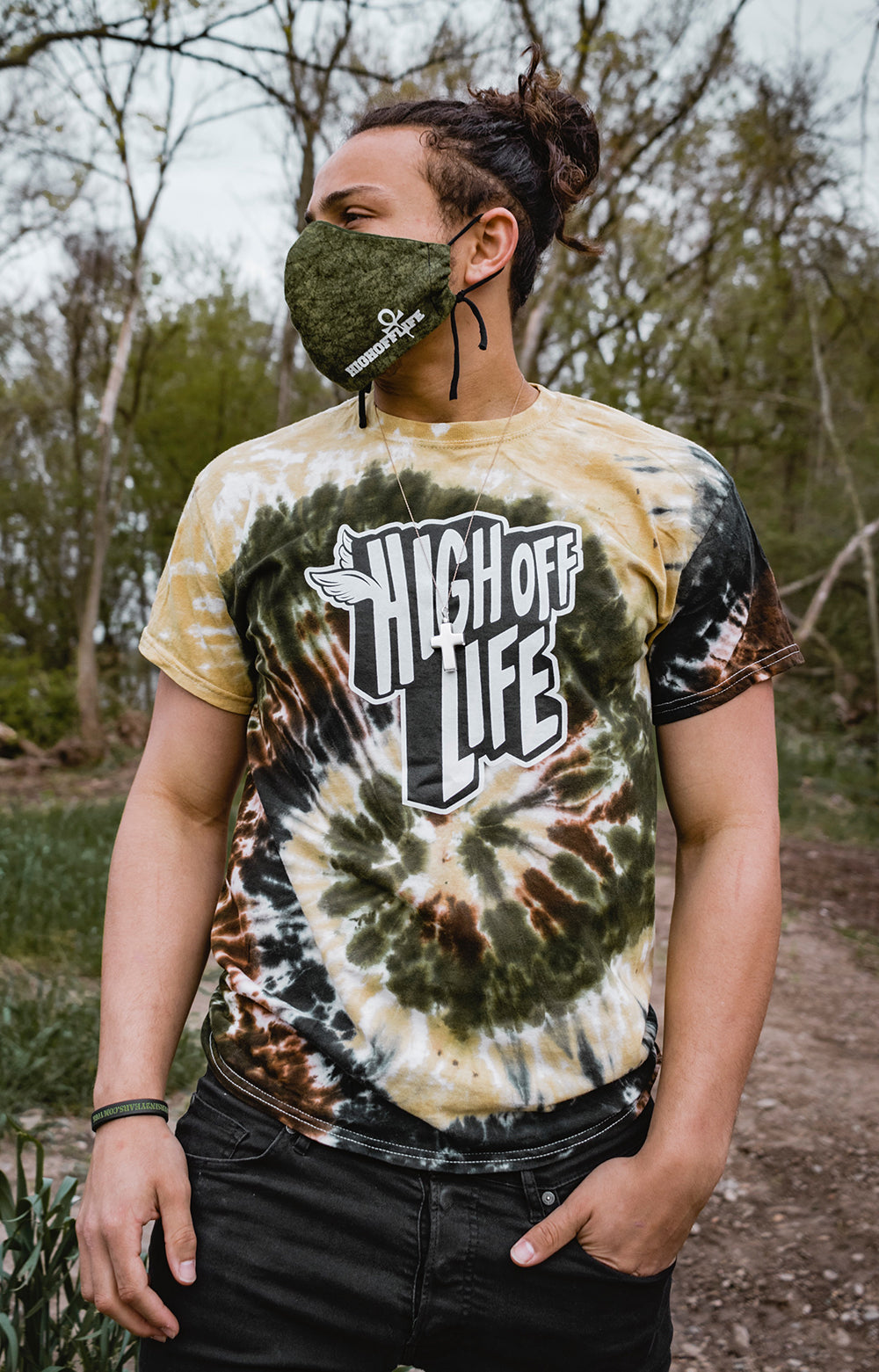 High Off Life T-Shirt (Camo Swirl Tie-Dye)