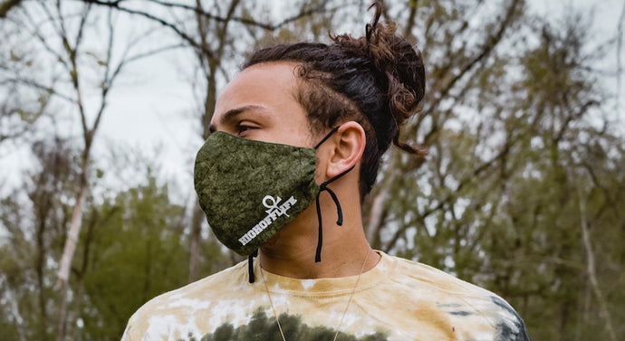 High Off Life Face Mask (Forest Green Camo)