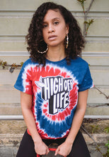 Load image into Gallery viewer, High Off Life T-Shirt (Red & Blue Tie-Dye)