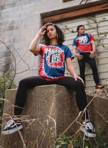 High Off Life T-Shirt (Red & Blue Tie-Dye)