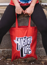 Load image into Gallery viewer, High Off Life Red Tote Bag