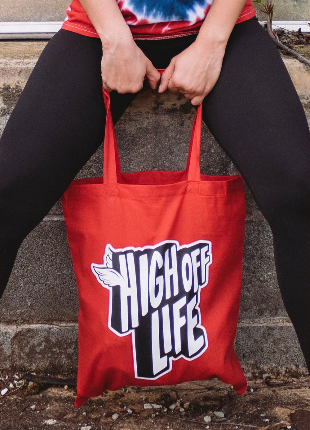 High Off Life Red Tote Bag