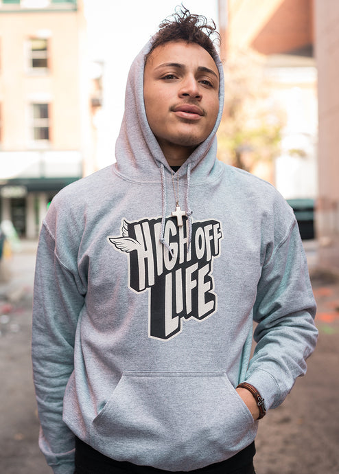 Gray High Off Life Hoodie