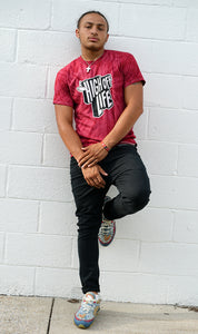 High Off Life T-Shirt (Red Tie-Dye)