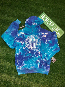 Tie-Dye High Off Life O.G. Hoodie (Blue)