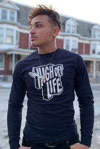 Champion Long Sleeve High Off Life T-Shirt (Navy)