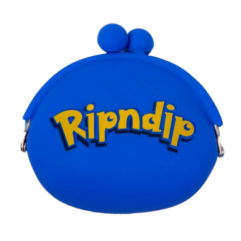 RIP N DIP CATCH 'EM ALL RUBBER COIN POUCH - BLUE