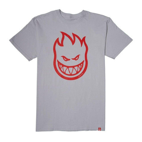 SPITFIRE BIGHEAD TEE - SILVER/RED