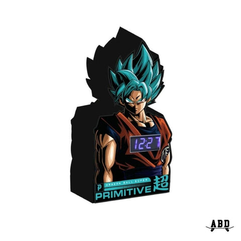 PRIMITIVE X DBZ SUPER GOKU CLOCK - BLACK