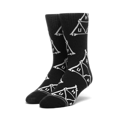 HUF BONER TRIANGLE SOCKS (1PR) - BLACK