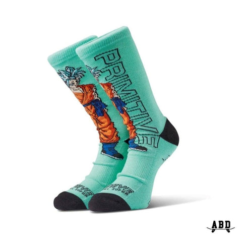 PRIMITIVE X DBZ SSG GOKU SOCK (PAIR) - TEAL